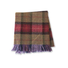 Plaid 'Mulberry' von Bronte Tweeds