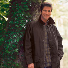 Barbour Beaufort Wachsjacke in Oliv