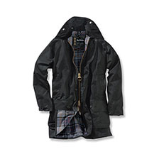 Barbour Beaufort Wachsjacke in Schwarz