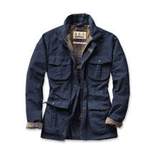 Barbours Funktionsjacke 'Utility Jacket' in Navy