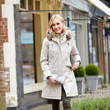 Barbour-Parka 'Filey' in Stone