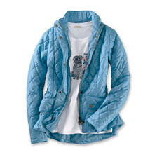 Barbour Steppjacke Fleyweight Cavalry in Hellblau