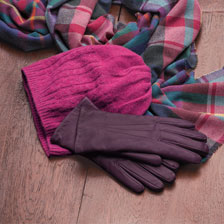 Handschuhe aus Schafleder in Royal Purple