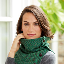Irischer Strickloop in Irish Green von Aran Woollen Mills
