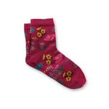 Corgi-Socken 'Botanical' in Magenta