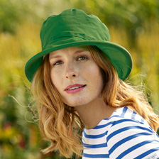 Kathleen McAuliffe's Wax Hat in Green