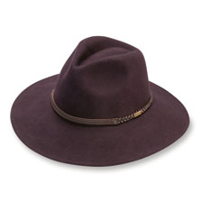 Wollhut Fedora von Barbour in Weinrot