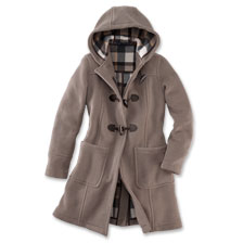 Englischer Dufflecoat von London Tradition f�r Damen in Taupe
