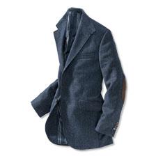 luxury tweed sakko in blau von kinbury g nstig bestellen. Black Bedroom Furniture Sets. Home Design Ideas