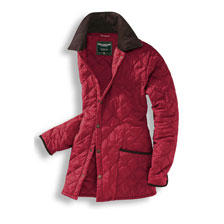 Steppjacke in Rot von Wellington of Bilmore