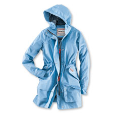 Hunter Damenregenparka in Pale Blue