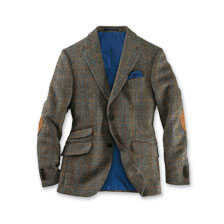 Harris-Tweed-Sakko in Oliv-Braun von Wellington of Bilmore