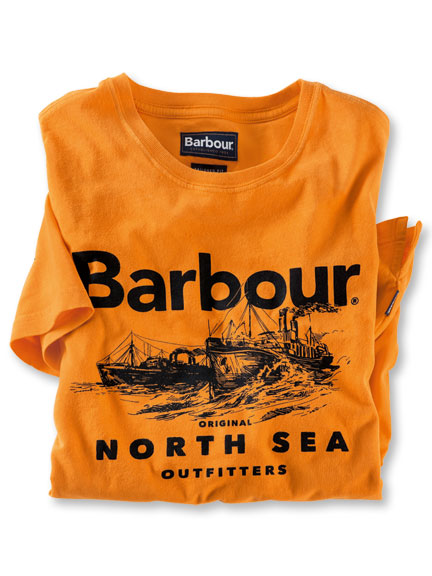 Barbour-Shirt 'North Sea' in Orange