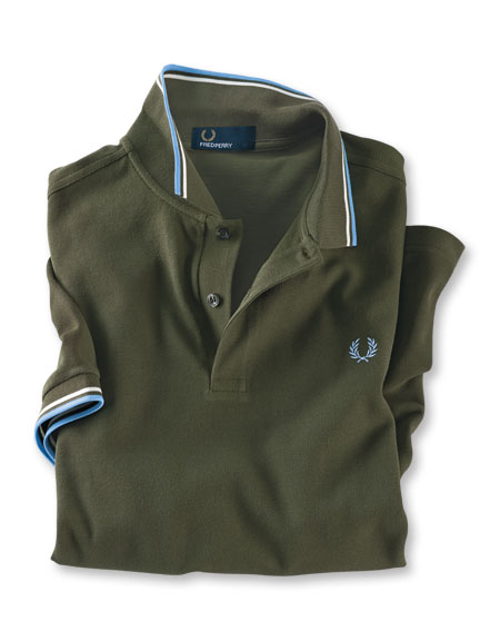 Fred-Perry-Polo in Oliv