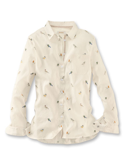 Barbour-Bluse 'Country Bird' in Winter White