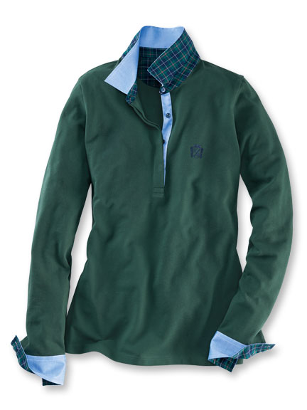 Oxford'-Club-Polo in Bottlegreen von Herringbone