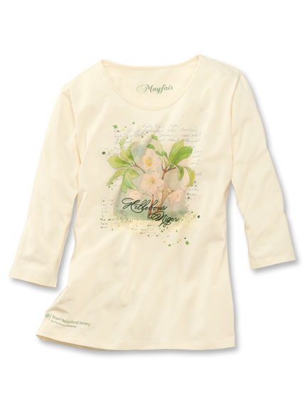 3/4-Arm-Shirt 'Helleborus' in Vanille von Mayfair