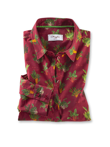 Bluse 'Wisley Garden' in Bordeaux von Mayfair