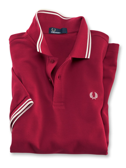 Fred-Perry-Polo in Rot
