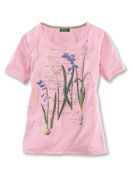 T-Shirt 'Summer Hyacinths' in Rosé von Mayfair