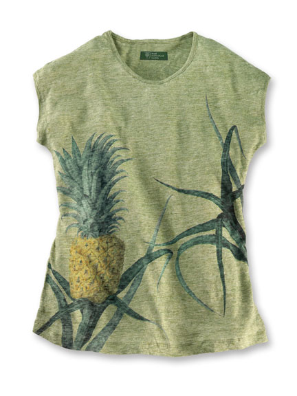 RHS-Sommershirt 'Pineapple' in Vintage Green