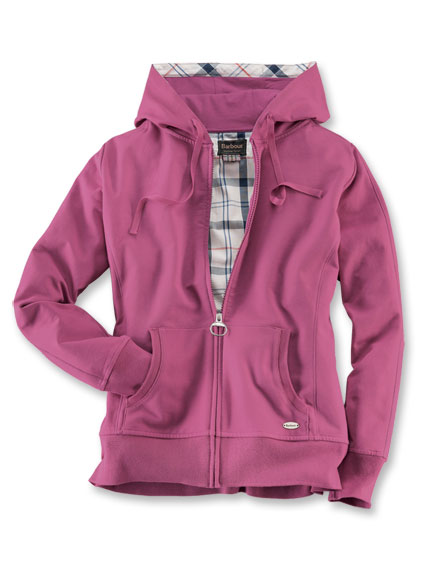 Barbour-Kapuzenjacke in Fuchsia