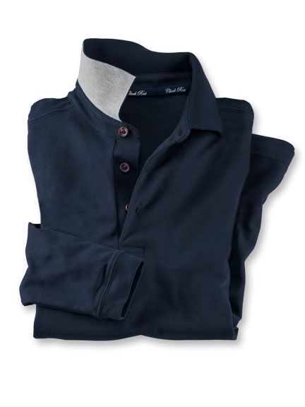 Basic-Polo in Navy von Clark Ross