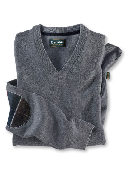 Lambswool-Pullover in Grey Marl von Barbour