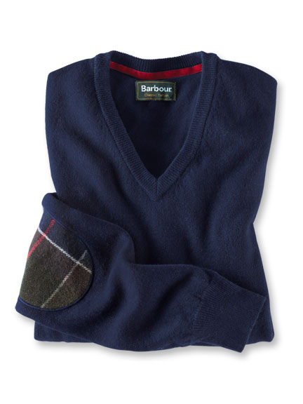 Lambswool-Pullover in Dark Navy von Barbour