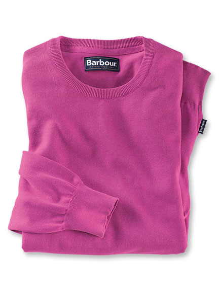 Barbour-Pullover in Fuchsia
