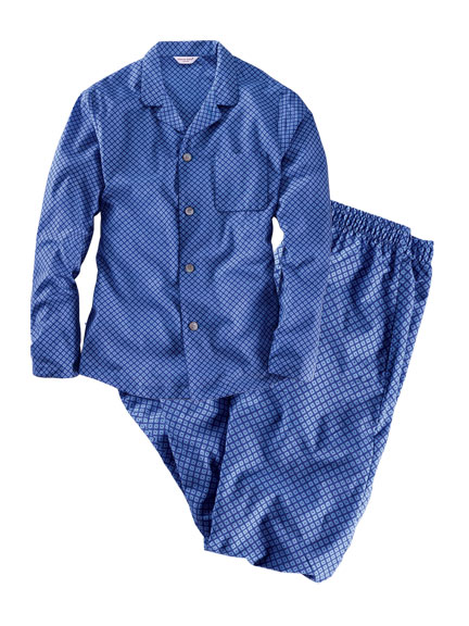 Moderner 'Gentleman Pyjama' in Royal Blue