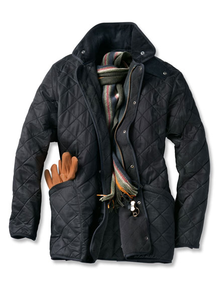 Steppjacke 'Duracotton Polarquilt Jacket' in Schwarz