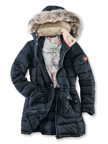 Extrawarmer Stepp-Parka in Navy von Barbour