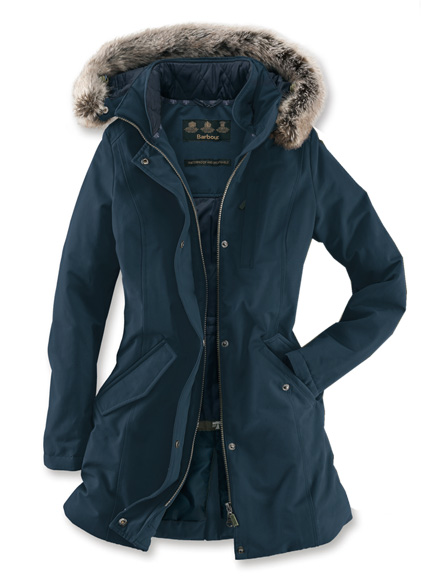 Barbour-Funktionsparka in Navy