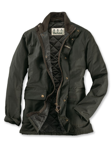 Barbour-Wachsjacke 'Guillemot' in Oliv