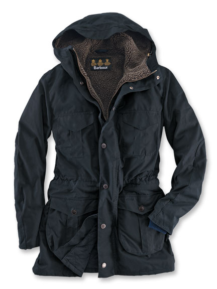 Kerniger Wachsparka von Barbour in Navy