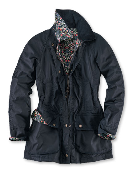 Barbour-Wachsparka 'Monteviot' in Navy