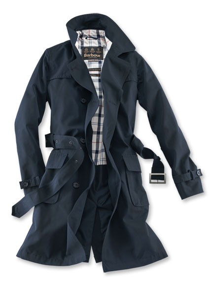 Sommertrench von in Dark Navy Barbour