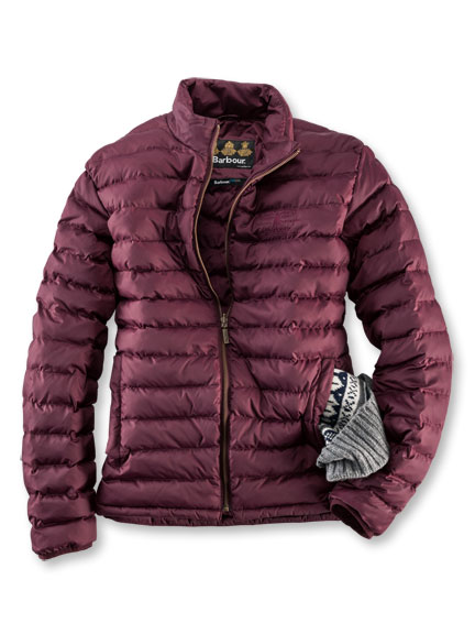 Steppjacke 'Templand' in Bordeaux von Barbour