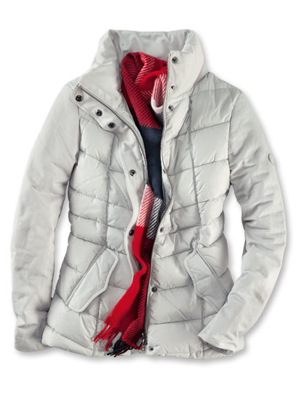 Barbour-Steppjacke 'Hayle Quilt' in Light Grey