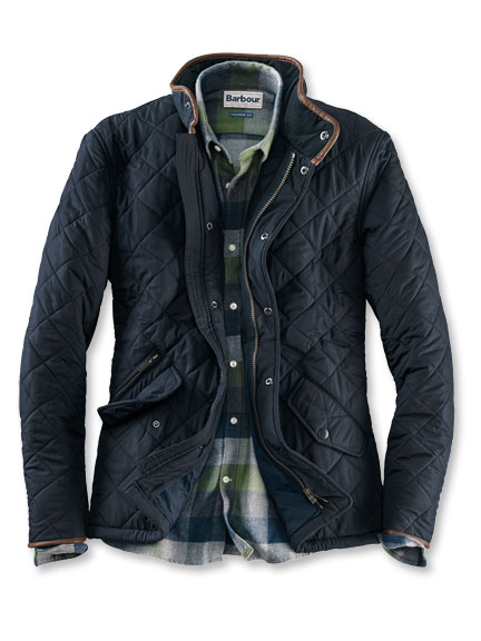 Barbour-Steppjacke 'Powell' in Navy