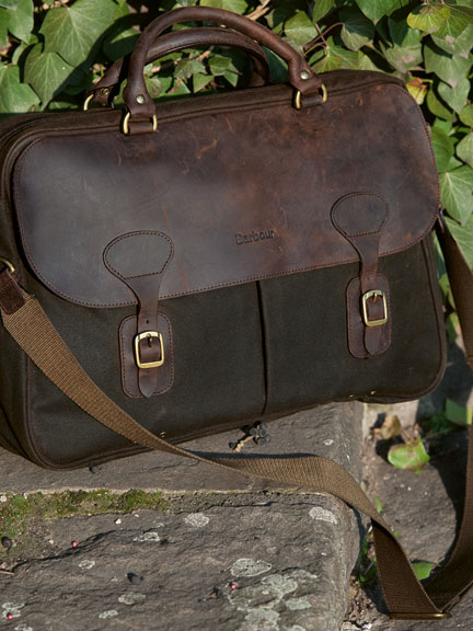 Wax Leather Briefcase für Herren von Barbour
