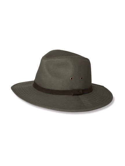 Barbour 'Bushman Hat' in Oliv