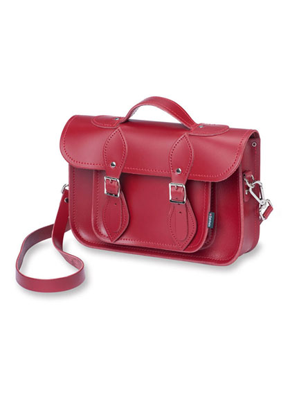 Neue 'Satchel Bag' in Classic Red von Zatchels