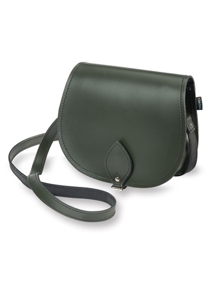 Original Zatchels 'Saddle Bag' in Ivy Green