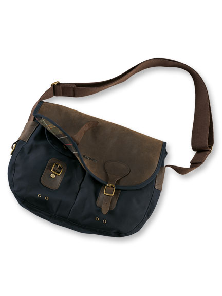 Barbour-Tasche 'Wax Leather Tarras' in Navy