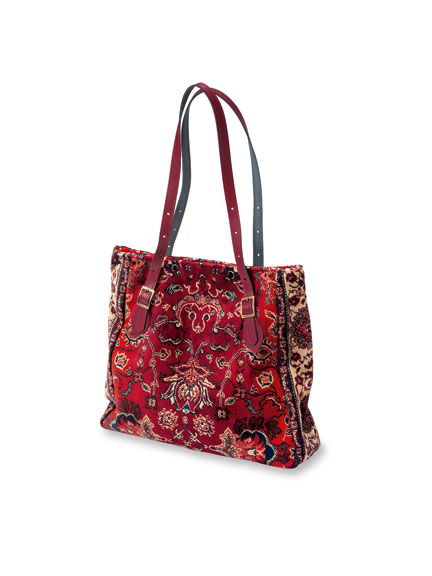 Carpet Bag in Red aus Norfolk