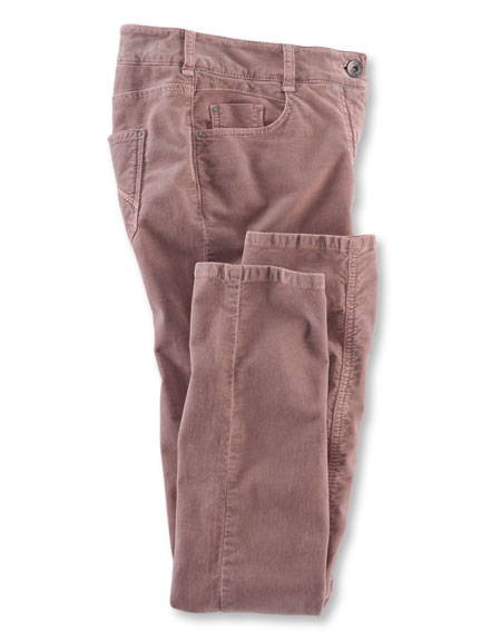 5-Pocket-Samthose von Charles Robertson in English Rose