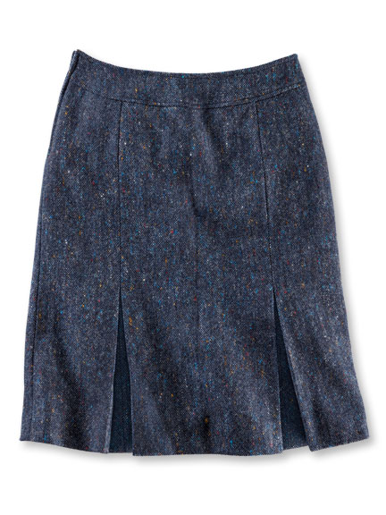 Brendellas 'Walking Skirt' in Indigoblau meliert