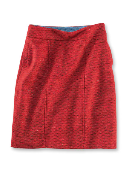 Avoca-Rock aus irischem Tweed in Bright Red